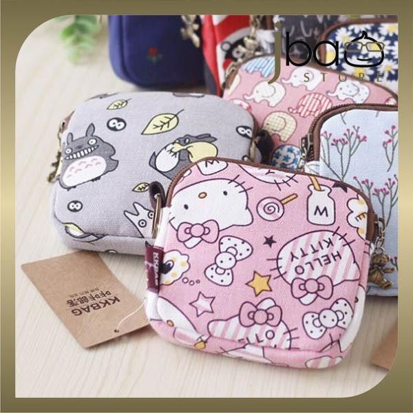 Doraemon Kitty Totoro Coin Purse / Napkin Pad Bag / Storage Organizer
