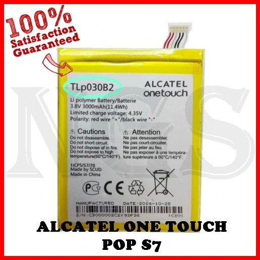 (NGS) 100% ORI Battery TLP030B2 3000mAh for ALCATEL ONE TOUCH POP S7
