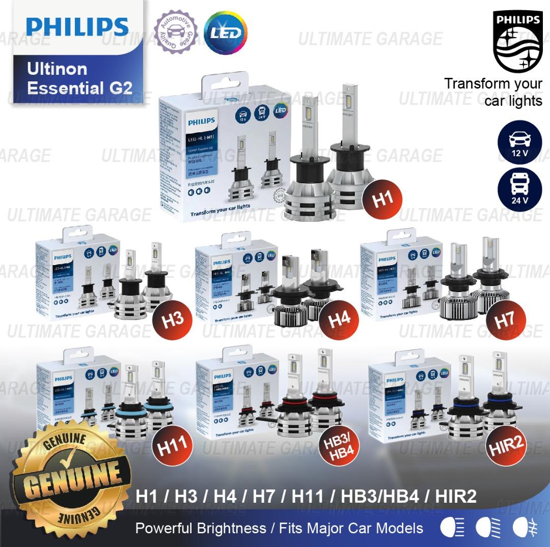 Philips Ultinon Essential Led G2 H1 H4 H7 Hb3 4 Hir2 H8 H9 H11 H16 H3 Headlight Bulb Fog Head Lamp Light Lampu Mentol Shopee Malaysia
