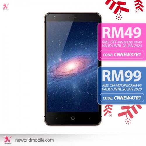 EX Mobile Chat 2 Plus 5 Inch 8GB 5MP Android Smartphone - Black Silver