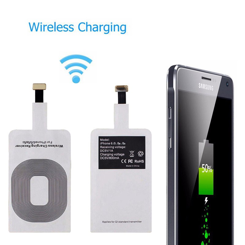 Qi Wireless Charger Transmitter Patch Receiver Adapter Pad for Samsung  iPhone X