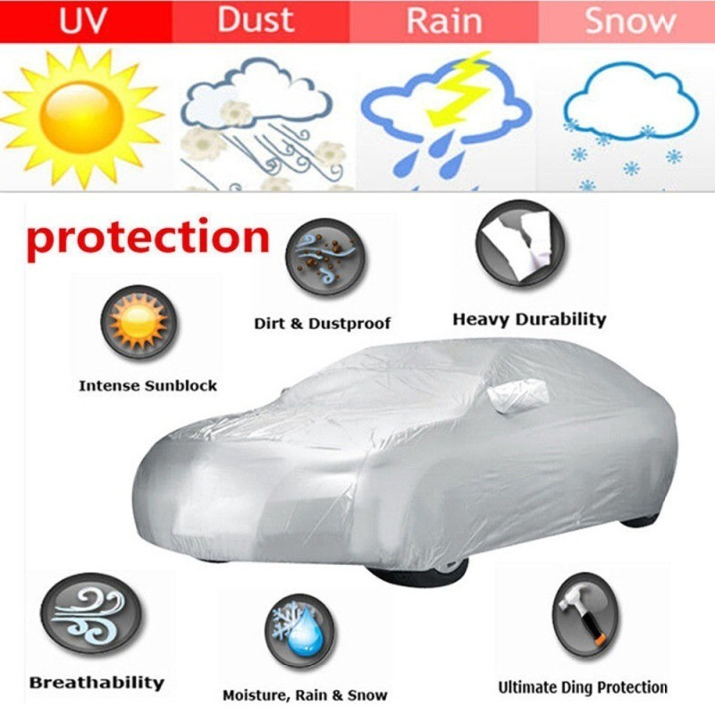 Soft Breathable Dust Proof Sun Uv Water Indoor Outdoor 1212 1 Layer Car Cover