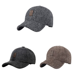 405f7362b Fashion Men Cotton Earflap Baseball Hat Winter Warm Outdoor Sports ...
