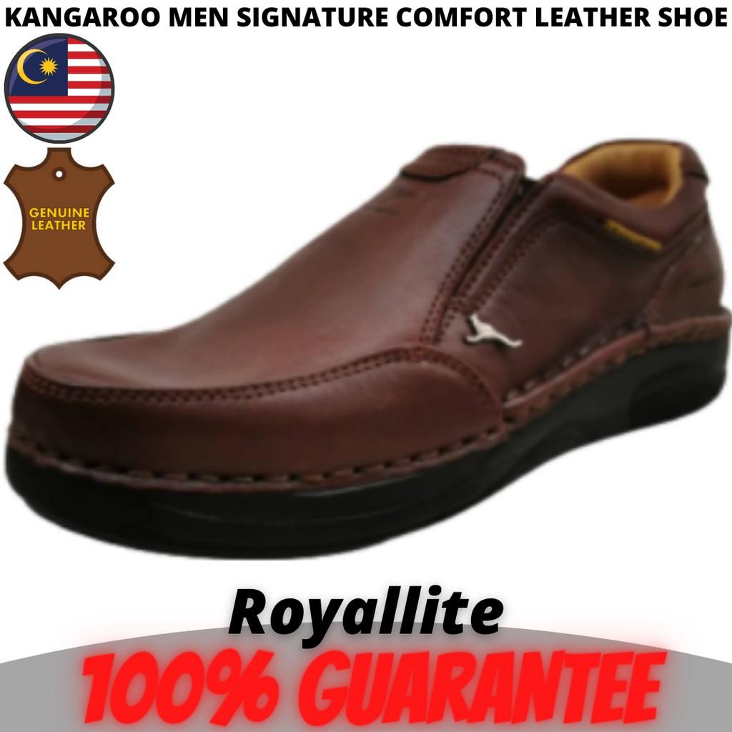 KANGAROO MEN SIGNATURE COMFORT LEATHER SHOE (9571) A43Maroon