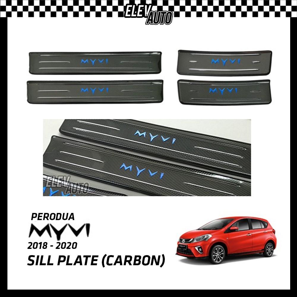 Perodua Myvi 2018-2021 Carbon Fiber Door Side Sill Step Plate