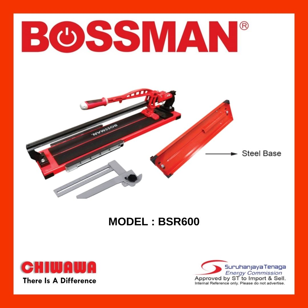 BOSSMAN BSR600 Manual Tile Cutter with Single Rail 600mm