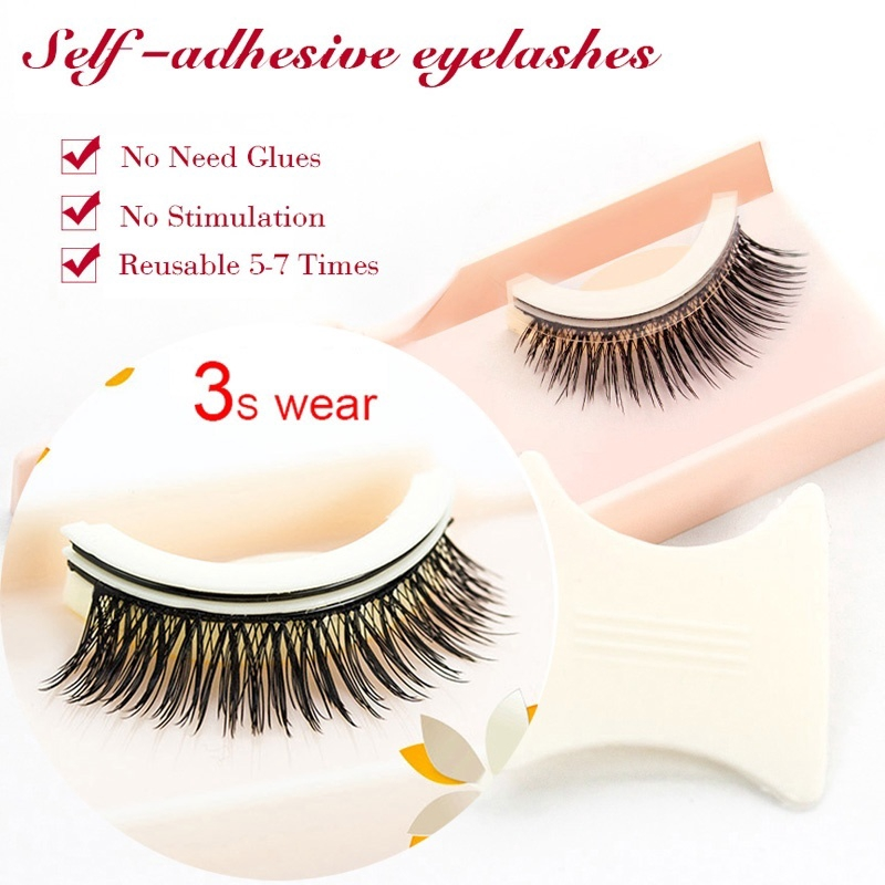 6bb65f844f2 24P 3D Hot Mink Self Adhesive False Eyelashes Fake Eye Lashes Natural  Extension