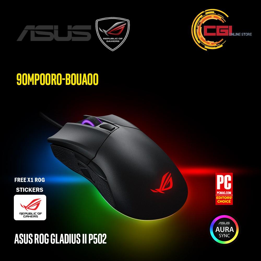 Asus ROG Gladius II P502 Aura RGB Gaming Mouse (90MP00R0-B0UA00)