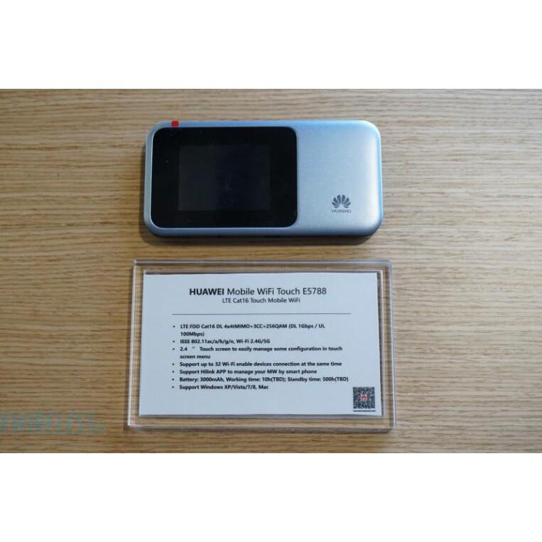 Unlocked Huawei E5788 4G 4CA-LTE Cat16 1Gbmps MiFi Modem can Bluetooth4 0  NFC