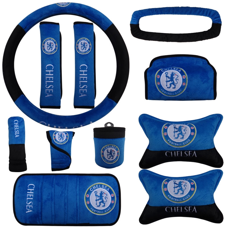 CHELSEA CAR ACCESSORY SEAT BELT COVERS WITH PADS OFFICIAL CHELSEA PRODUCTS