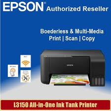 Epson EcoTank L3150 Wi-Fi All-In-One Ink Tank Printer With Refill  compatible Ink