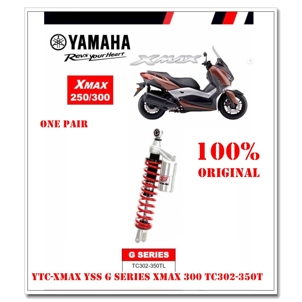 YSS G-SERIES XMAX 300 TC302-350T RED