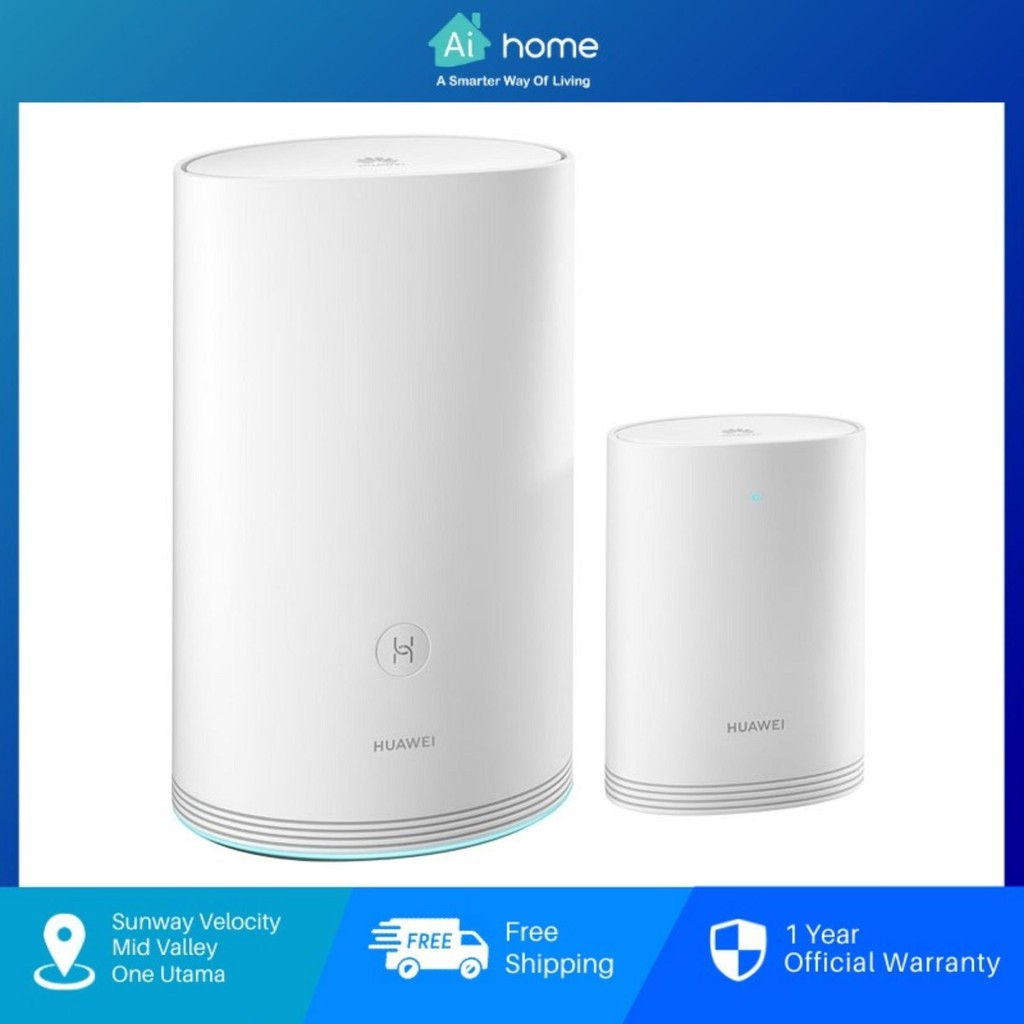 HUAWEI Wi-Fi Q2 Pro Router + Free Satellite Router [ Malaysia Version ] - Better Coverage | Better Performance [Aihome]