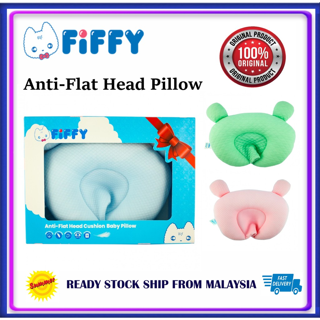 FIFFY ANTI-FLAT HEAD DIMPLE CUSHION BABY PILLOW Bantal baby Infant Baby Shaping Prevent Flat Head Sleeping support