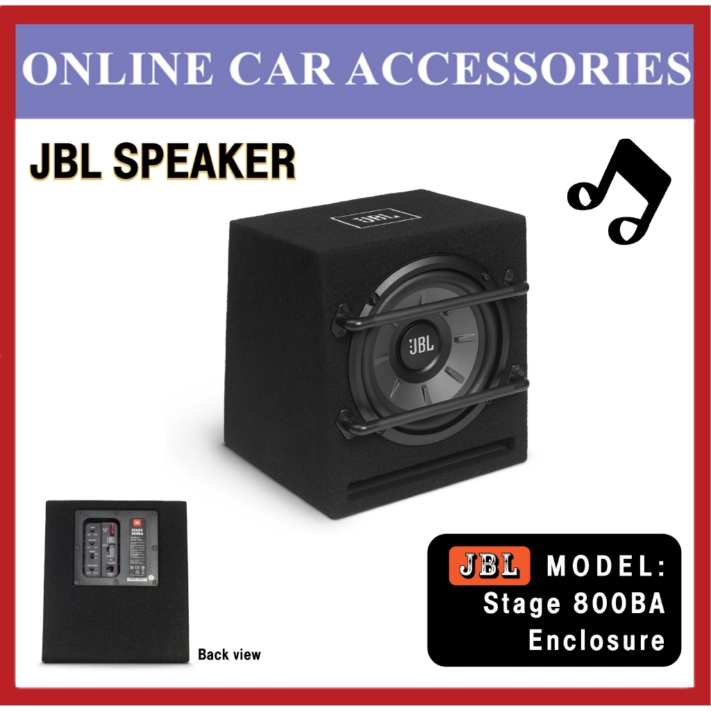 """JBL Stage 800BA 200W 8"""""""" Ported Powered Active Amplifier Subwoofer Box Enclosure"""