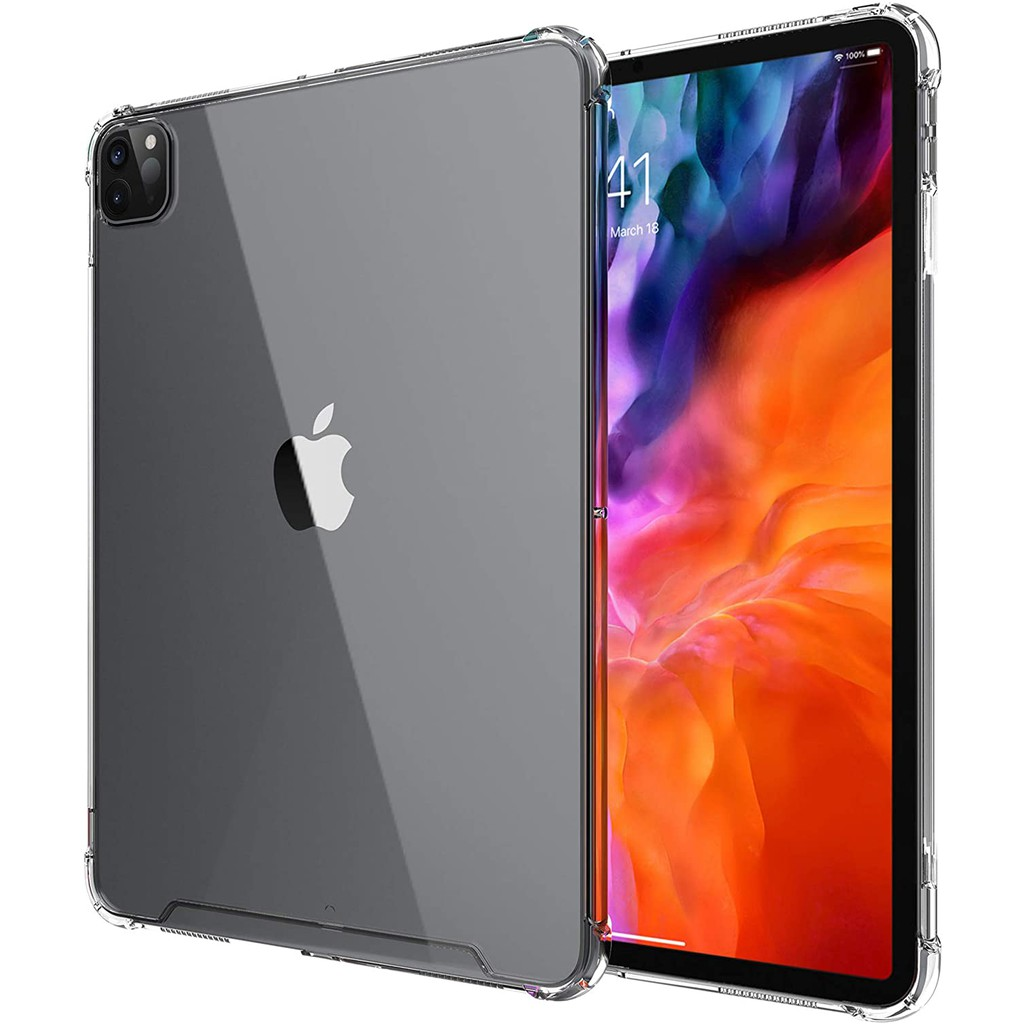 For iPad Pro 11 2020 & 2018 Soft TPU Back Cover Supports ...