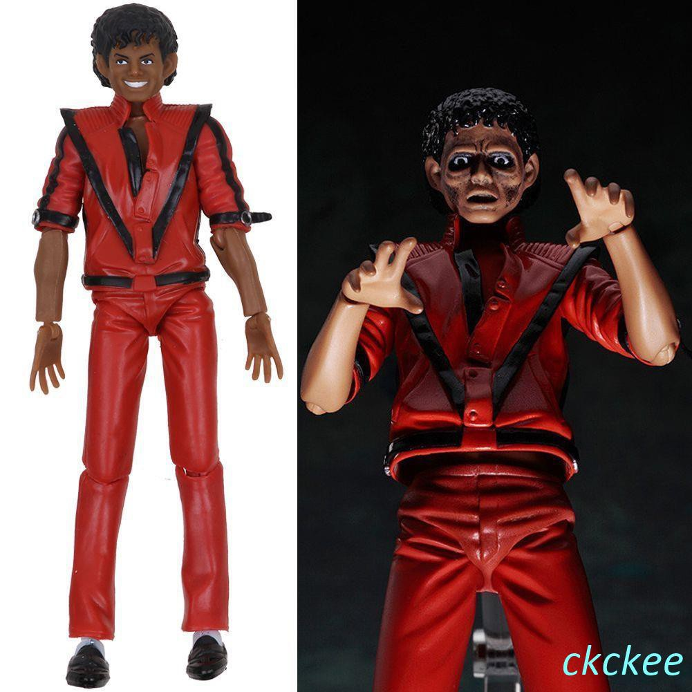 PVC Figure Toys In Box Kids Gift Figma 096 Michael Jackson MJ Thriller MV Ver