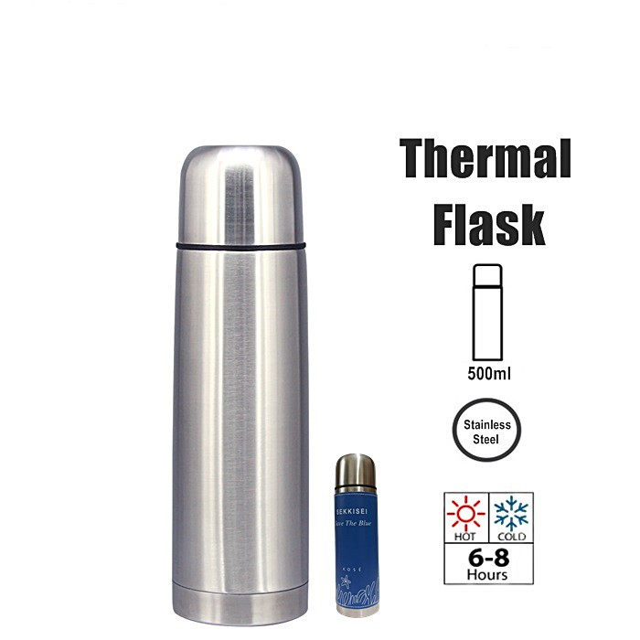 500ml Stainless Steel Thermos Flask Water Container Vacumm Flask