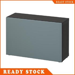 Black Brown Valviken Grey Turquoise 60x20x38 Cm Ikea Besta Shelf Unit With Door
