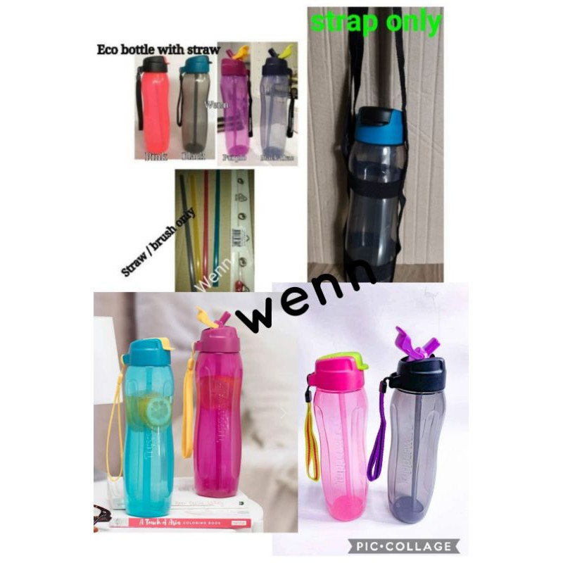 Tupperware eco bottle   750ml with straw (1pc)