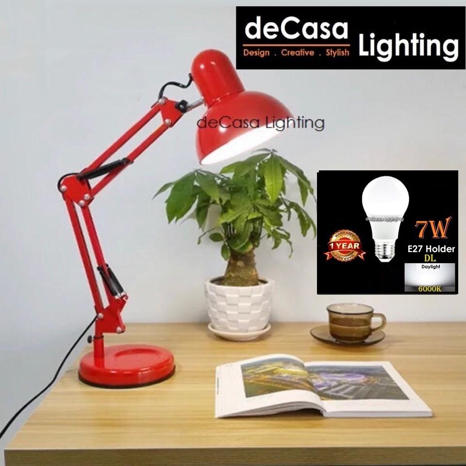 [M Size] * (SET WITH LED BULB) Modern Ikea Style Design Table Lamp Study Desk Lamp Lampu Meja Designer Home Deco (810)