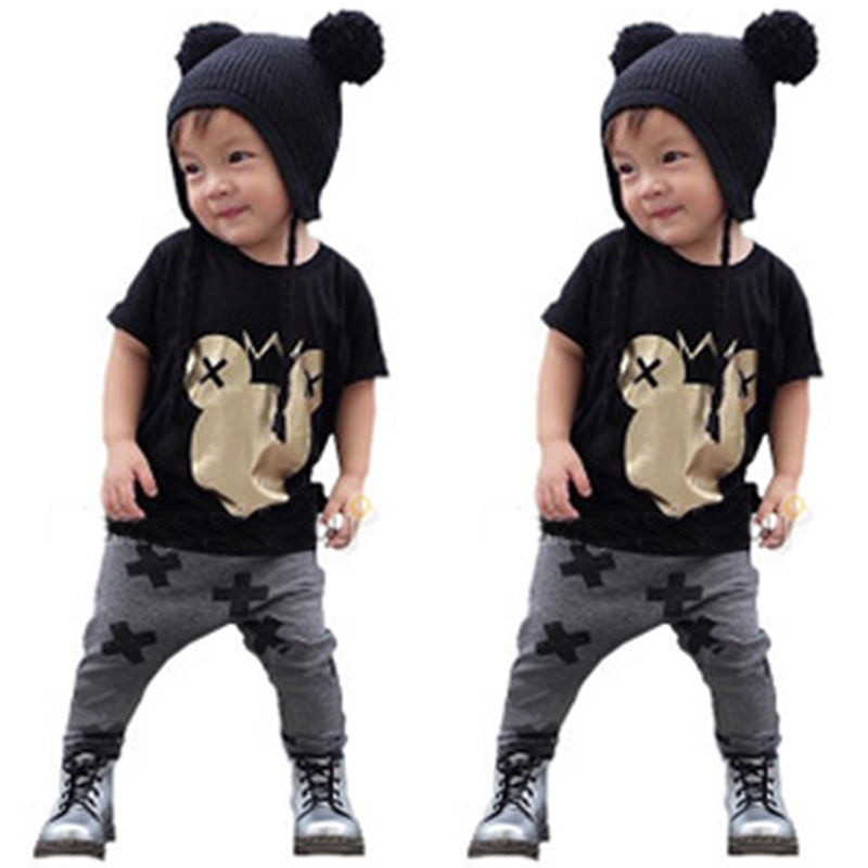 6abfdac457441 ProductImage. ProductImage. Newborn Infant Baby Boy Girl Short Sleeve T-shirt  Top+Pants Outfits Set Clothes