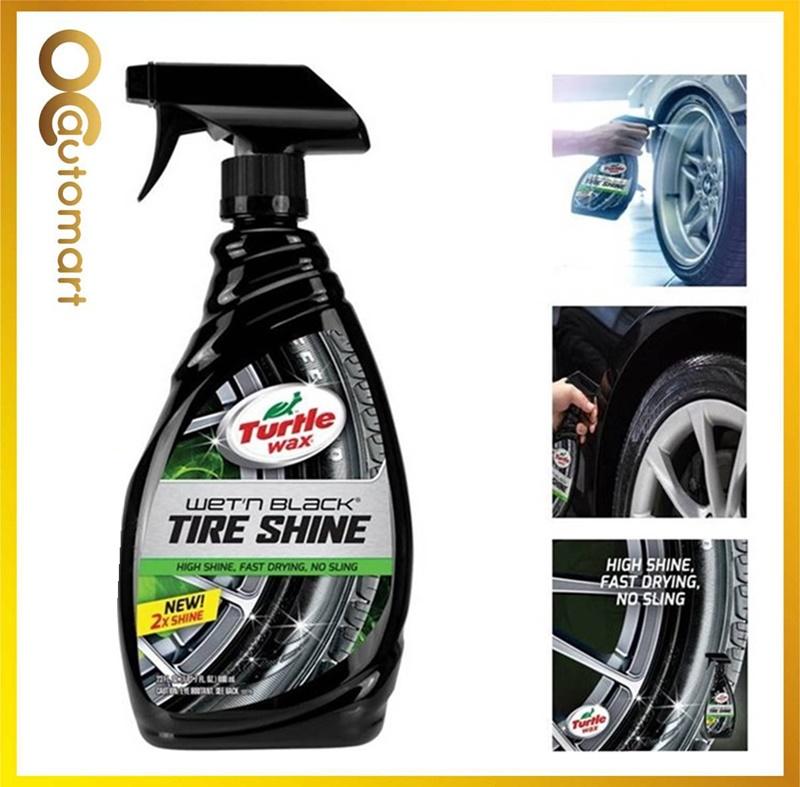 Turtle Wax Wet N Black Tire Shine T-217