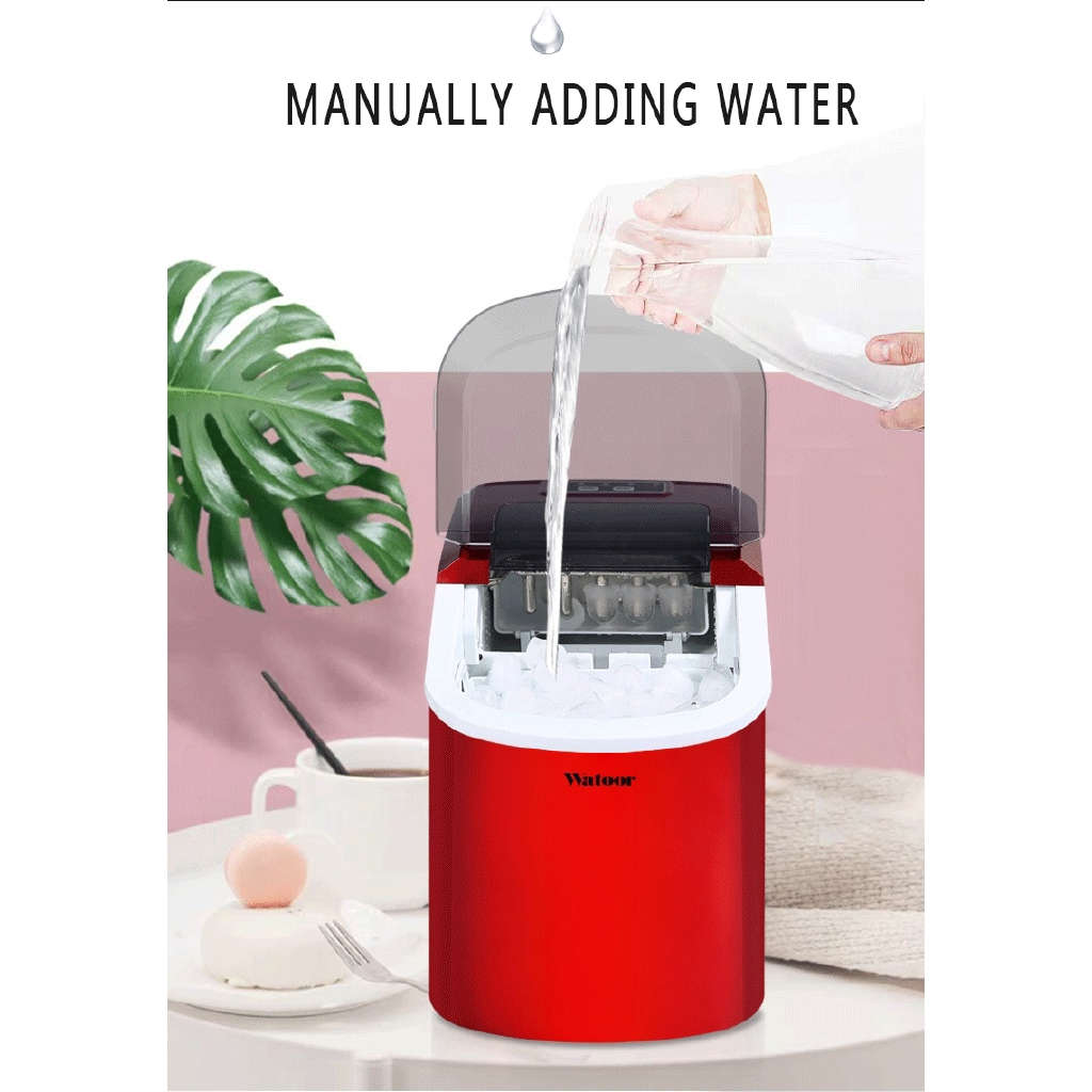 Mini Automatic Electric Ice Maker Portable Bullet Round Block Ice Cube Making Machine Small Bar Coffee Shop Shopee Malaysia