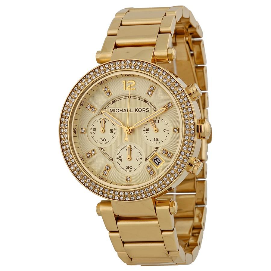 6b32f24f3209 Michael Kors Women s Gold Chrono Parker Two-tone Tortoise Shell Watch  MK5688