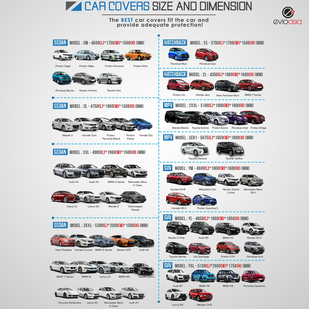 Car Cover With Zipper Door Design for Honda City Civic Mazda 3 Proton Preve New Persona (Size 3L)(CCHS)