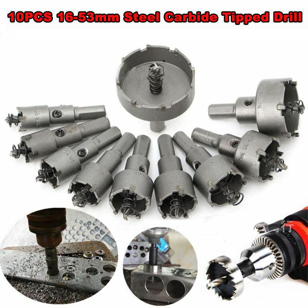 Boxed 25mm Carbide Tip Hole Saw Drill Bit Cutter for All Metal Alloy