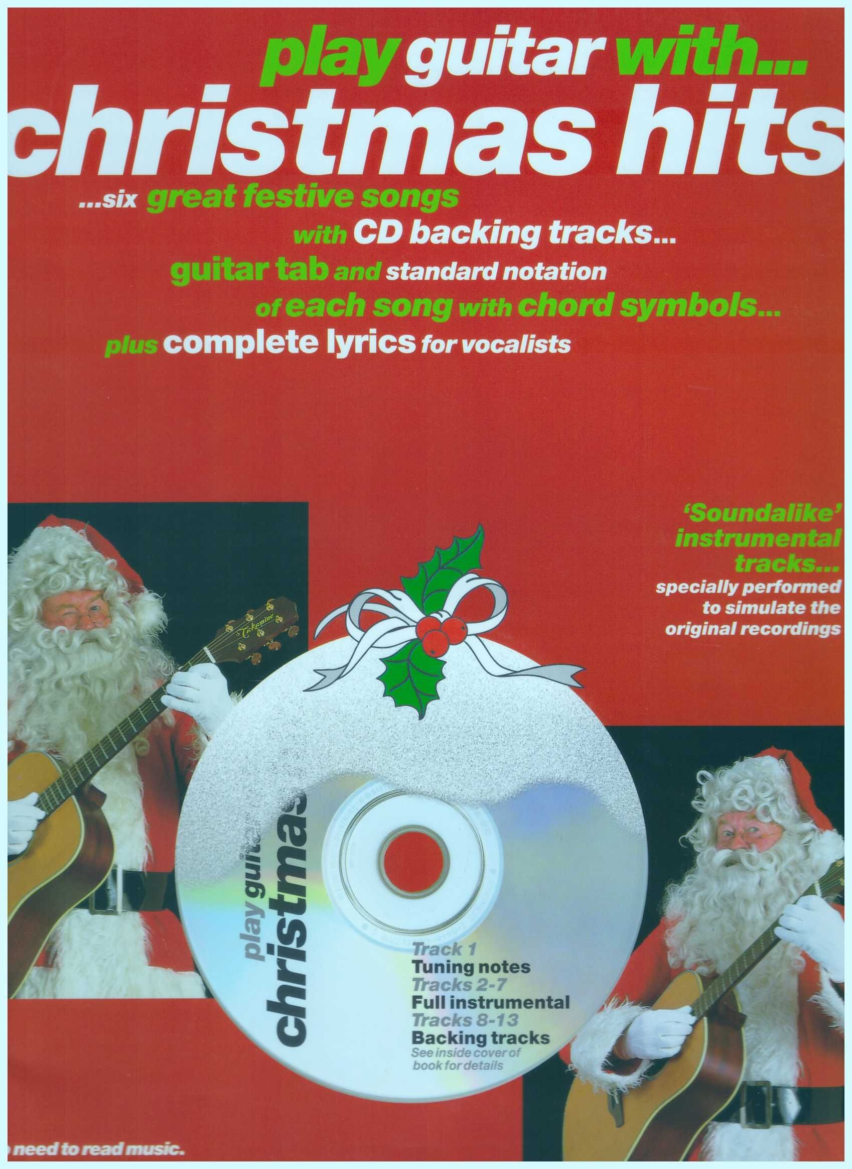 Play Guitar With...Christmas Hits / Vocal Book / Guitar Book / Gitar Book / Tab Book / Guitar Tab Book