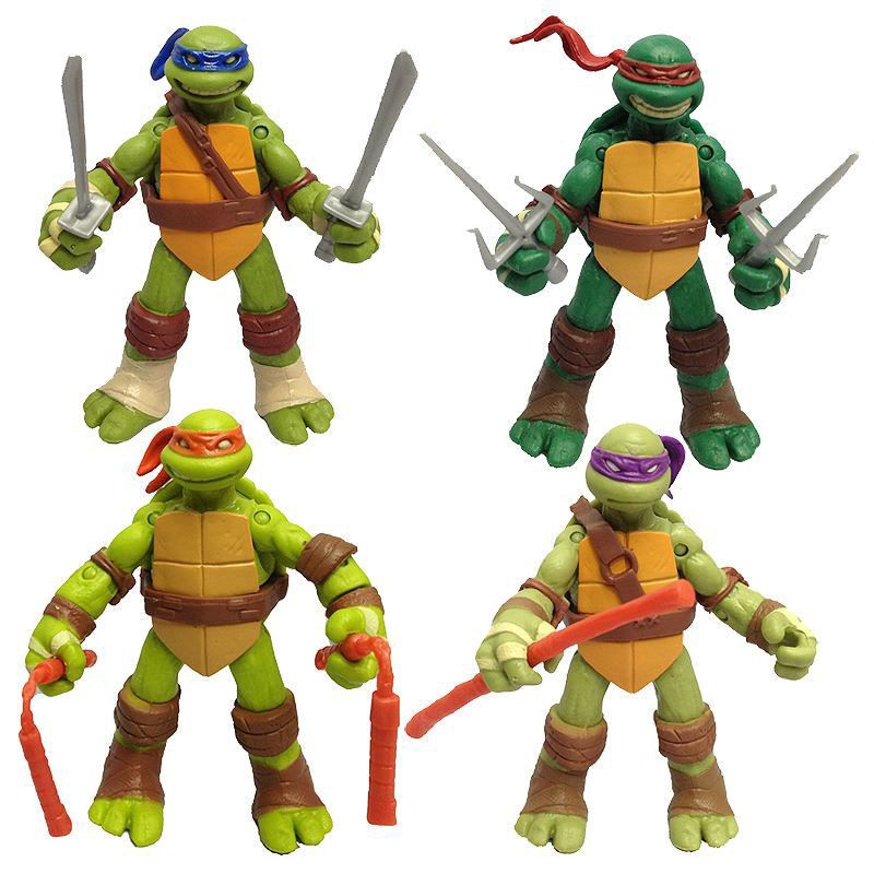 MINI Teenage Mutant Ninja Turtles TMNT Action Figures Toy Classic Collection