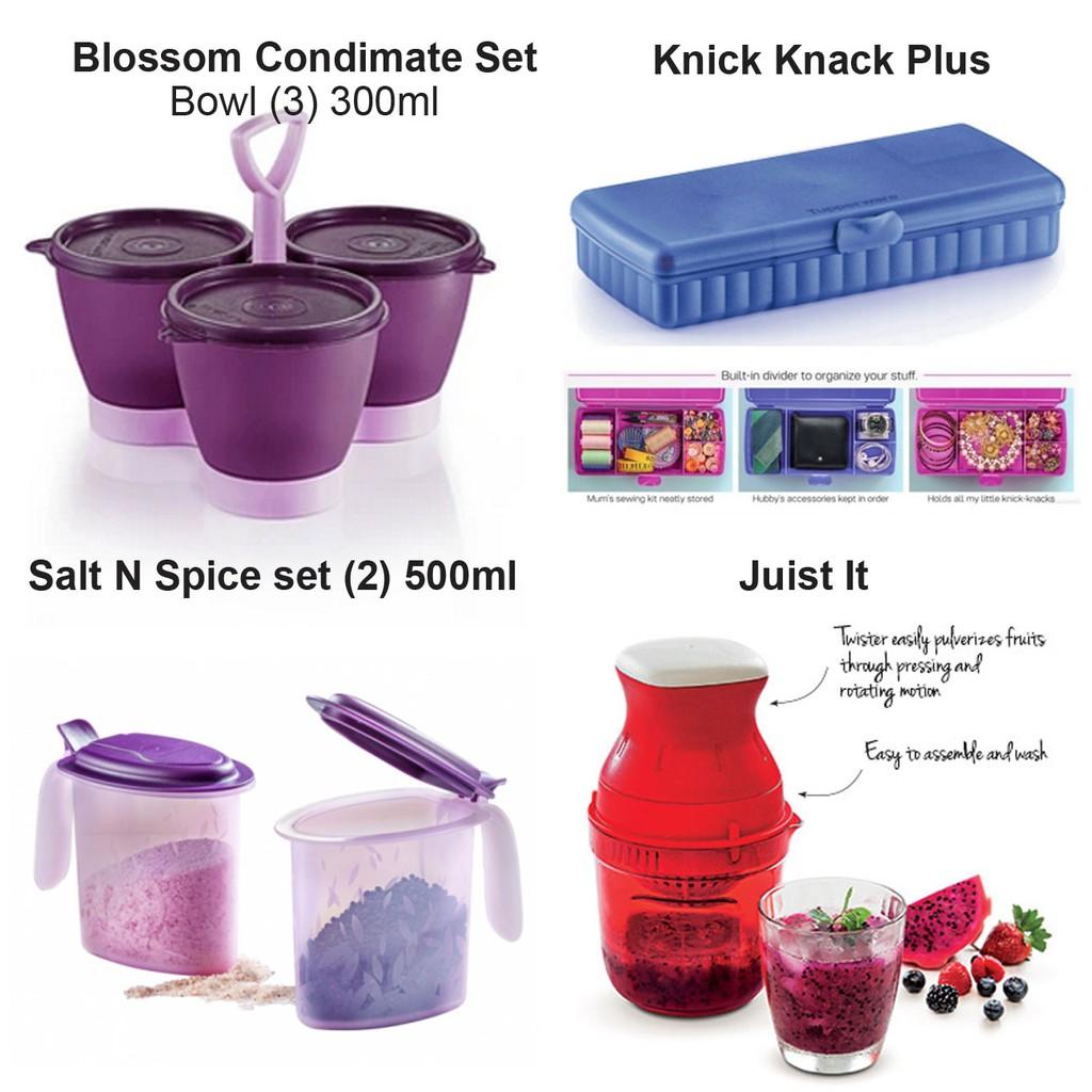 [Tupperware Limited] Blossom Condimate Set / Knick Knack Plus / Salt N Spice Set / Juist It