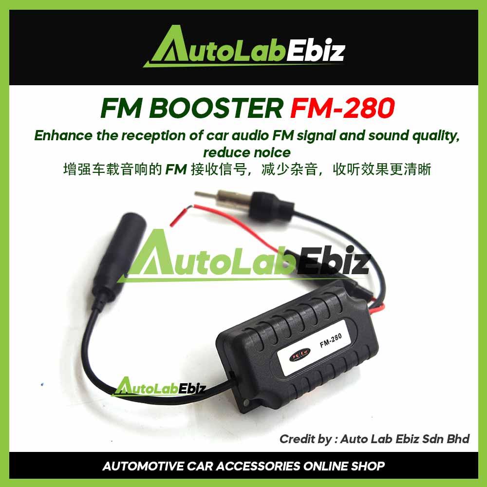 Car FM Radio Signal Amplifier Booster FM-280
