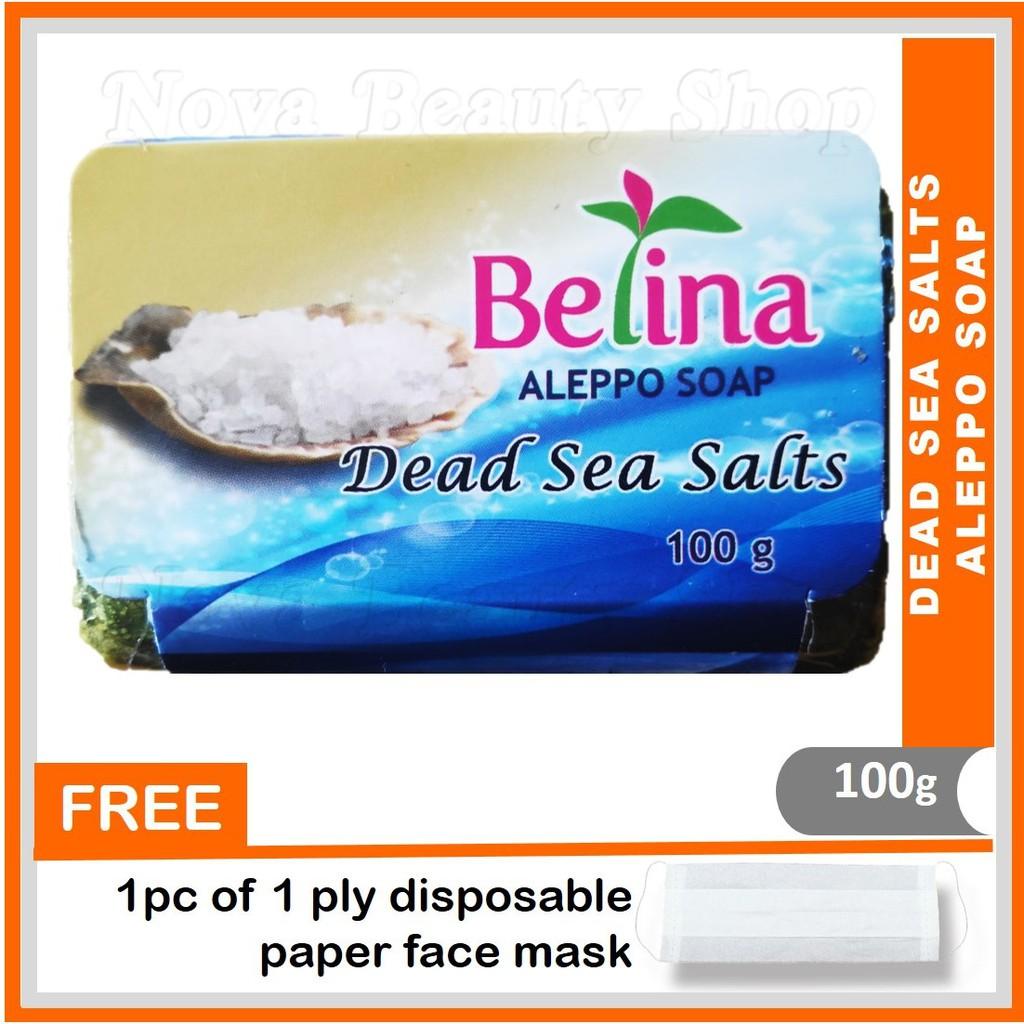Belina Dead Sea Salts Aleppo Soap 100g - Lembapkan Kulit dan Kurangkan Kedutan