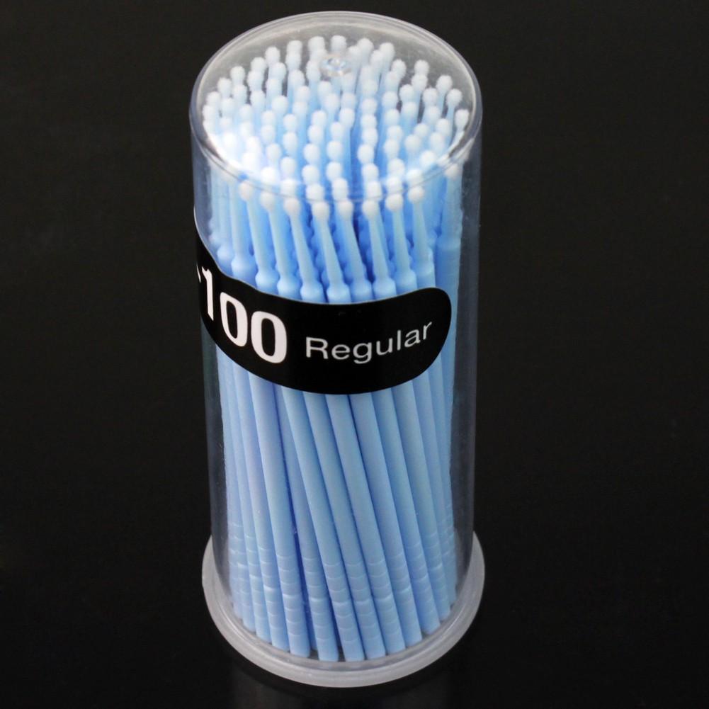 100pcs Small Disposable Eyelash Extension Micro Brush Applicators Mascara 3mm