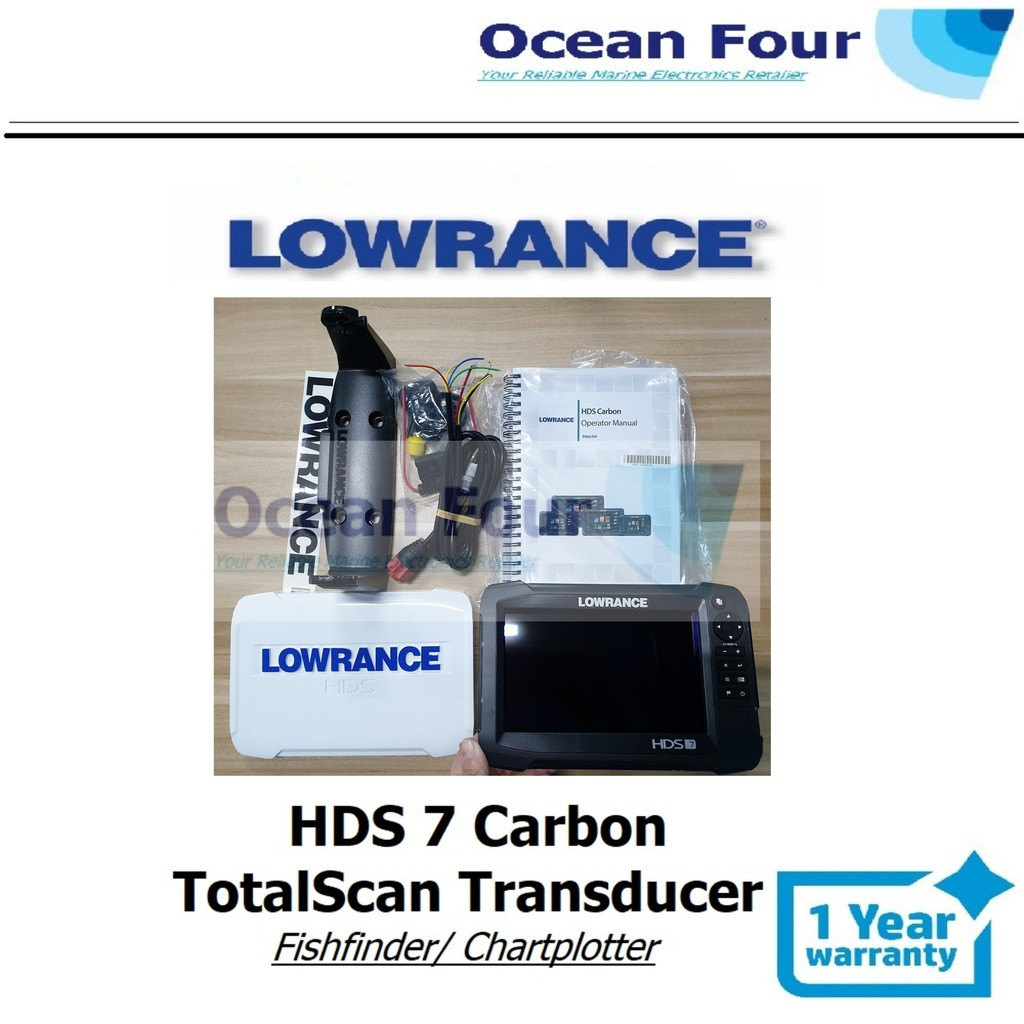 Lowrance HDS 7 Carbon with TotalScan Transducer (Cmap: Either: West  Malaysia/ Sabah/ Sarawak) Fishfinder/ Chartplotter