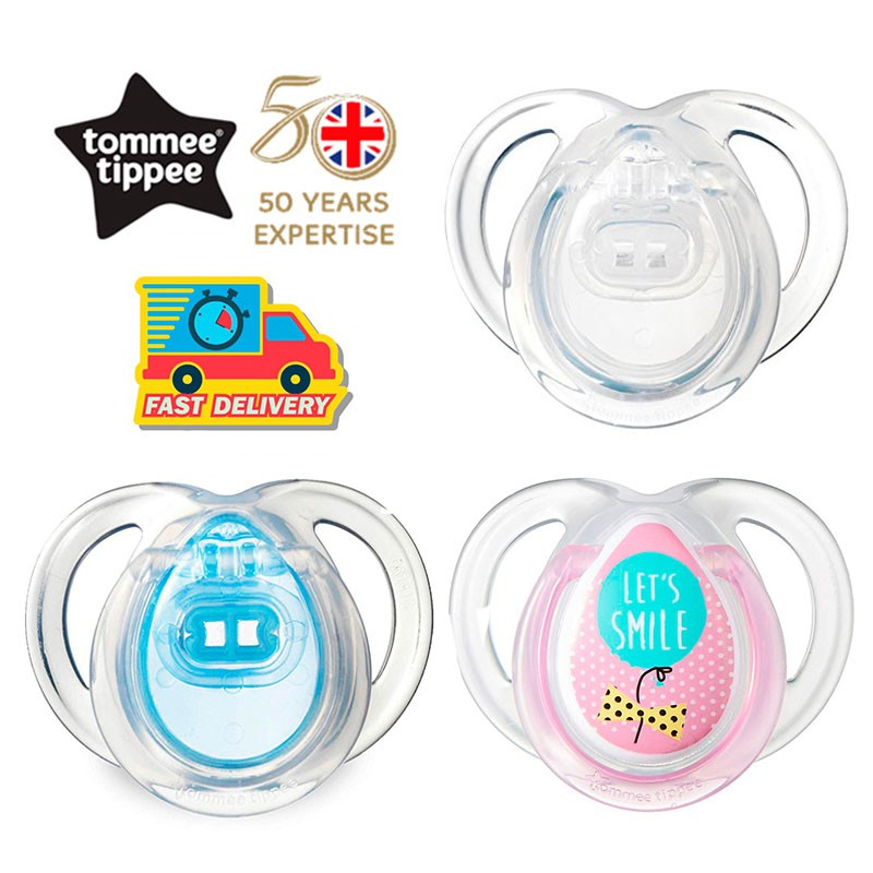 Closer To Nature Air Style Soother Twin Pack 0-6m Clear