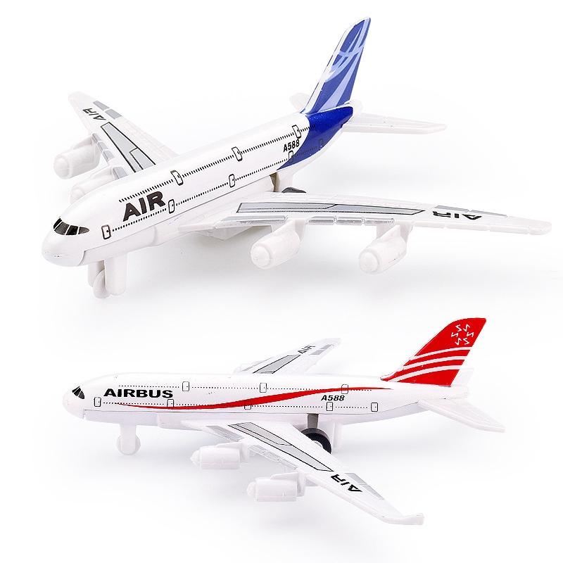 Alloy Air Bus Model Kids Children Pull Back Airliner Passenger Plane Toy GiR Ri
