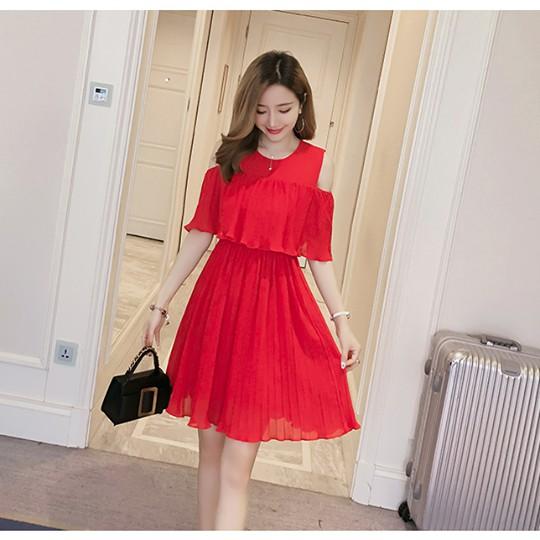 1d26d1468e61d Maternity/Nursing Dress 841 RED [M,L,XL]