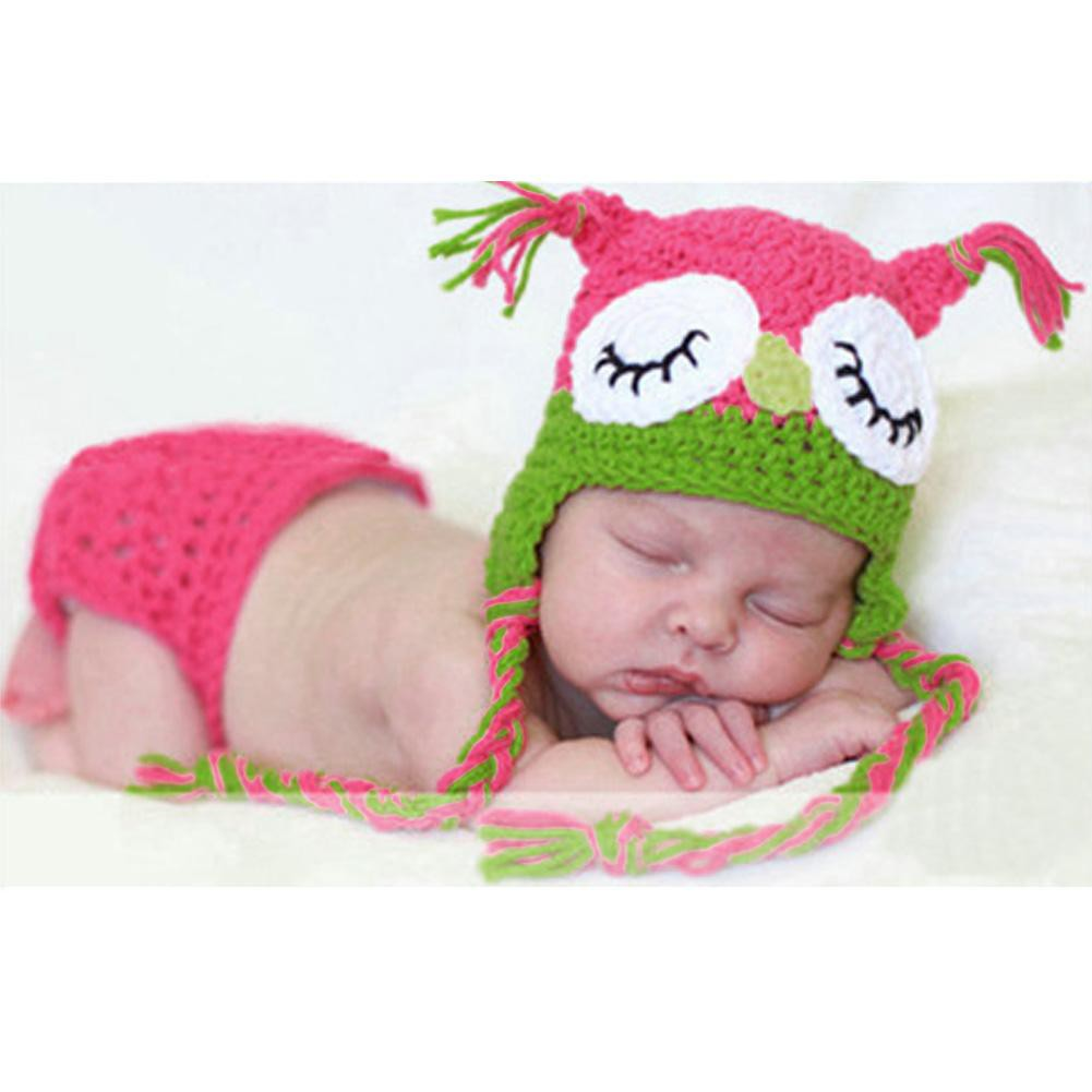 4404fd83ace12 Newborn Crochet Outfits Baby Hat + Pants Baby Cap Photography Props
