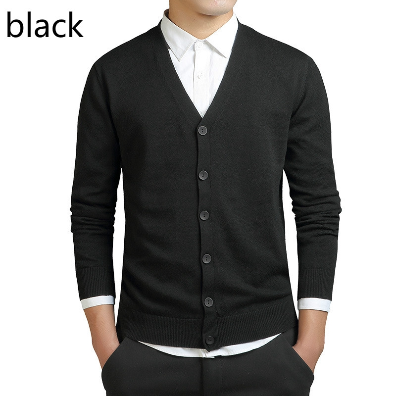 2019 Fashion Men Sweaters Long Sleeve Cardigan Mens V Neck Sweaters Loose Button Fit Knitting Sweaters Mens Clothing