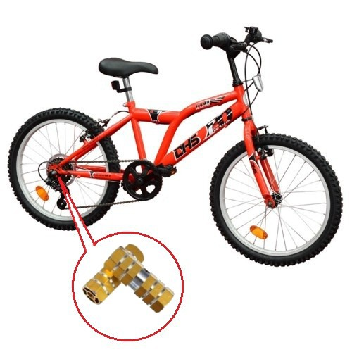 Rear Axle Pedal Aluminum Alloy Bike Stand Foot Back Pedal
