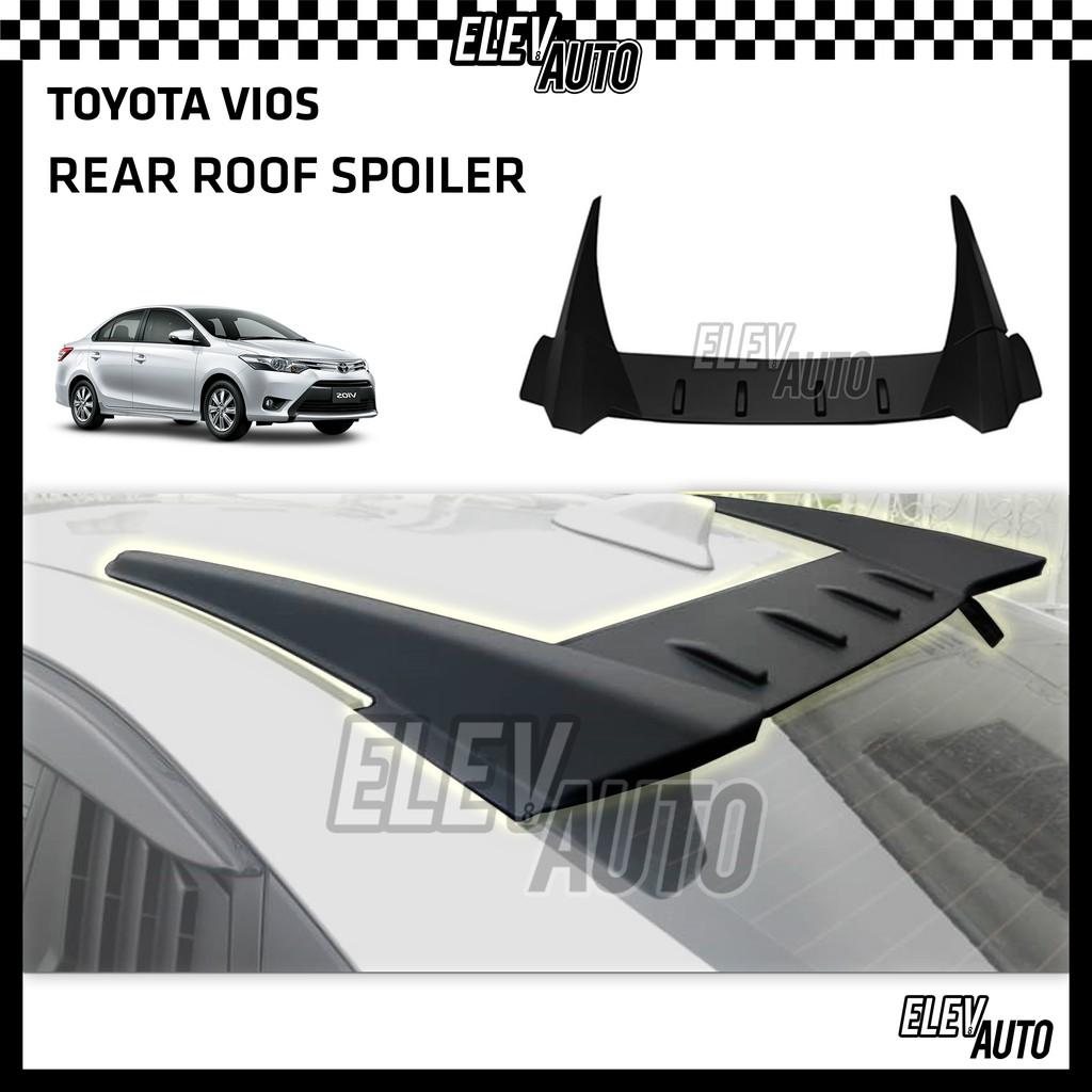 Toyota Vios 2014 - 2018 Matte Black Roof Spoiler Bodykit Body Kit Vios Accessories 2015 2016 2017