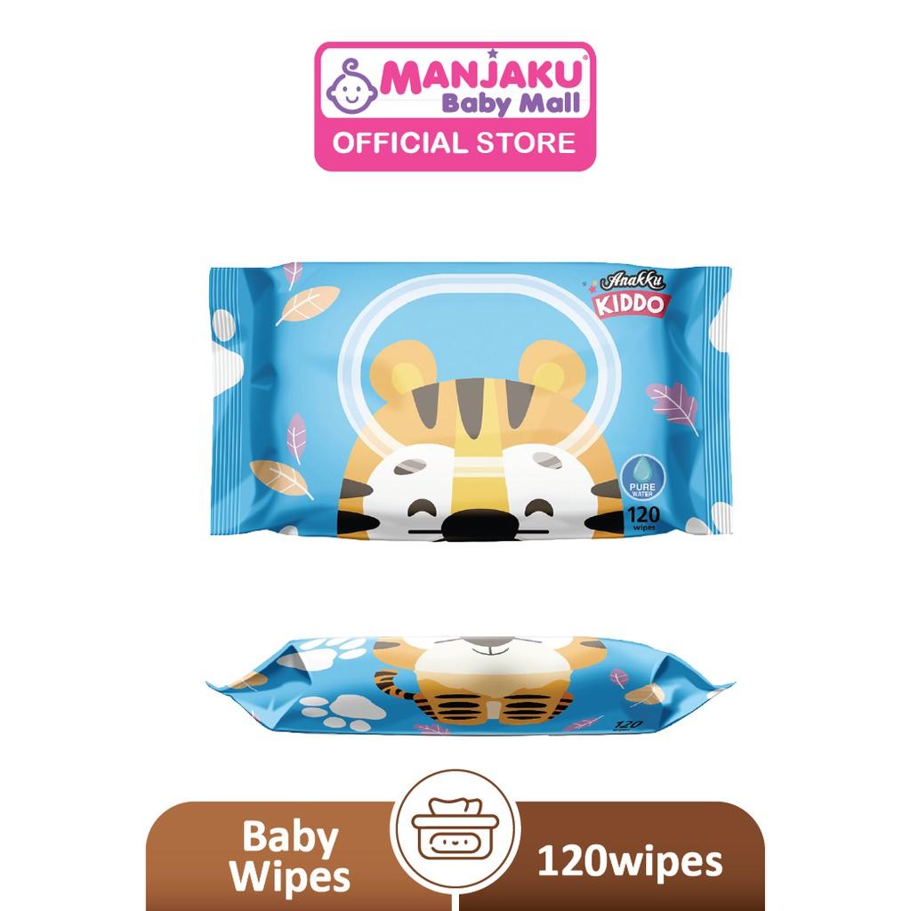 Anakku Kiddo Character Wipes Pure Water Series - Tiger Design (120's)