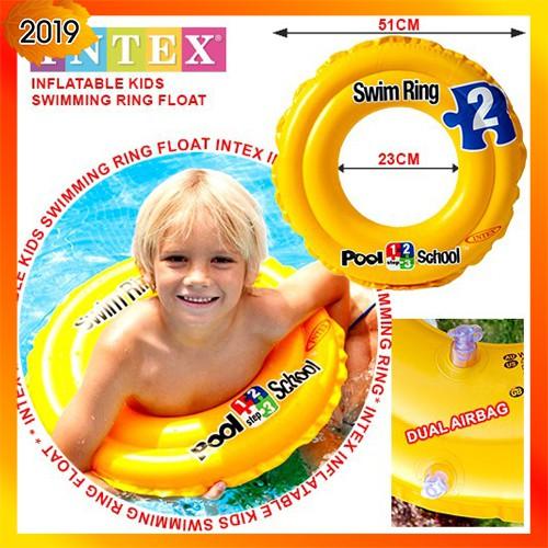 INTEX 58231 Inflatable Deluxe Kids Swim Ring Children Swimming Float Pool School
