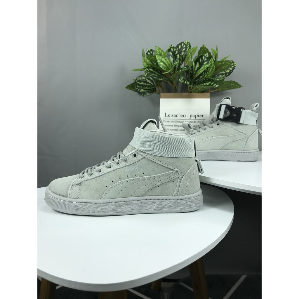 best website 9849c a08e8 Puma Suede X The Weeknd Mens and womens high top sneakers grey 36-44