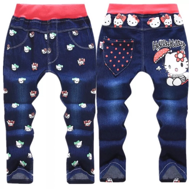 0ed452ad9 Baby Kids Girls rabbit Embroidery Pants bell-bottom Trousers slim fit Jeans  1-5T | Shopee Malaysia