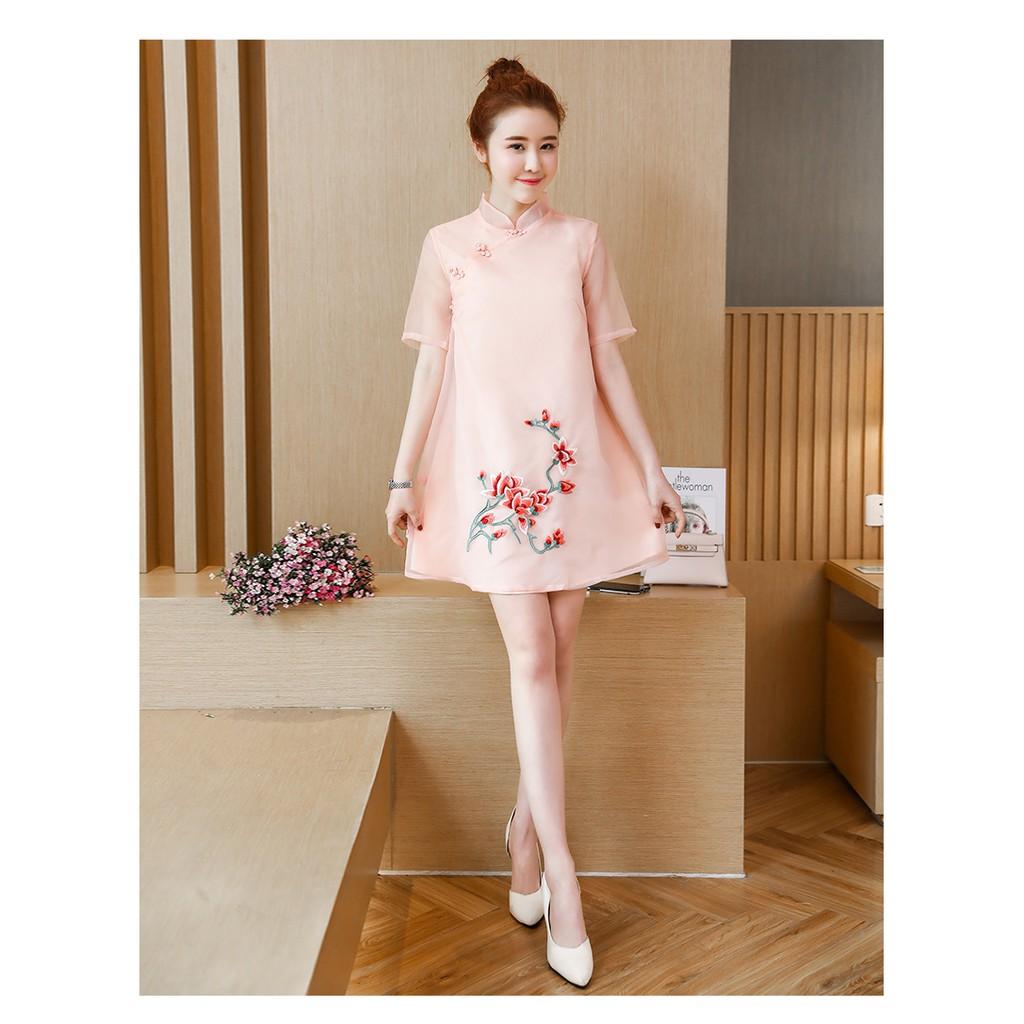 Plus Size Cheongsam/Qipao/Evening Dress/Dinner/CNY/Short Dress/Elegant 短款旗袍连衣裙